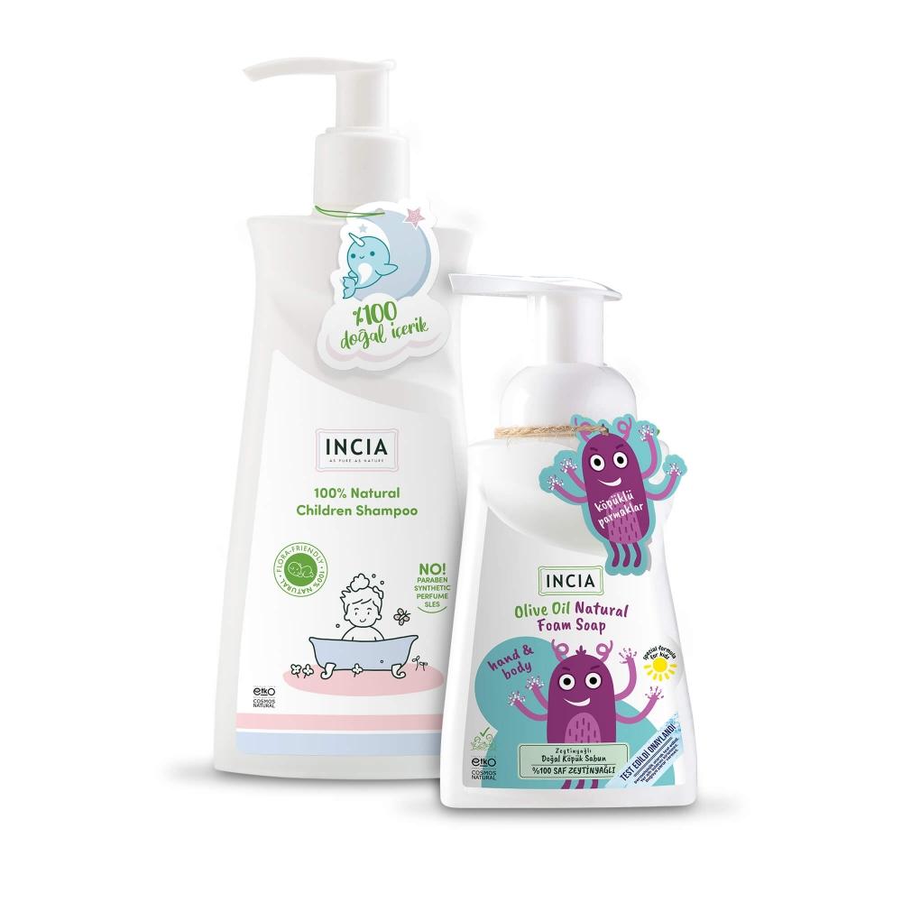 Çocuk için Şampuan ve Sabun Seti