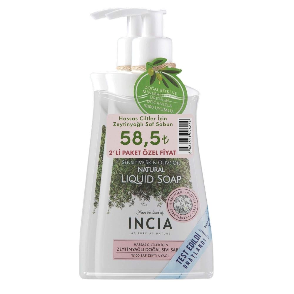 Hassas Ciltler için Doğal Sıvı Sabun 2 X 250 ml