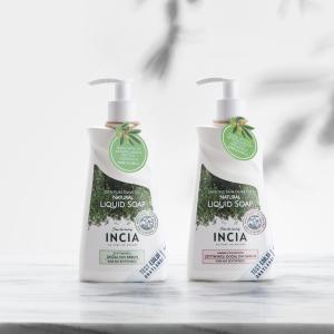 INCIA - Hassas Ciltler İçin Zeytinyağlı Sıvı Sabun 250ml + Zeytinyağlı Sıvı Sabun 250ml